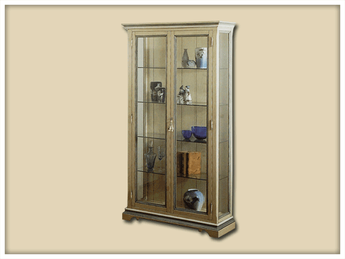 Glass display cabinet lacquered