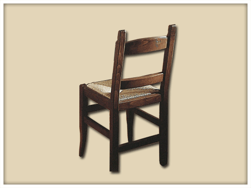 Straw-bottomed chair
